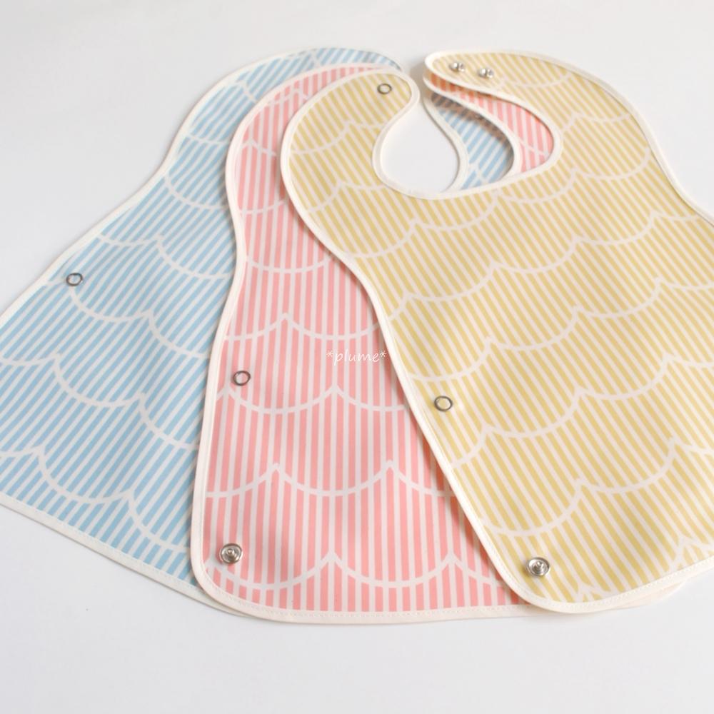 お食事エプロン・離乳食に便利な赤ちゃん用品 ストライプ