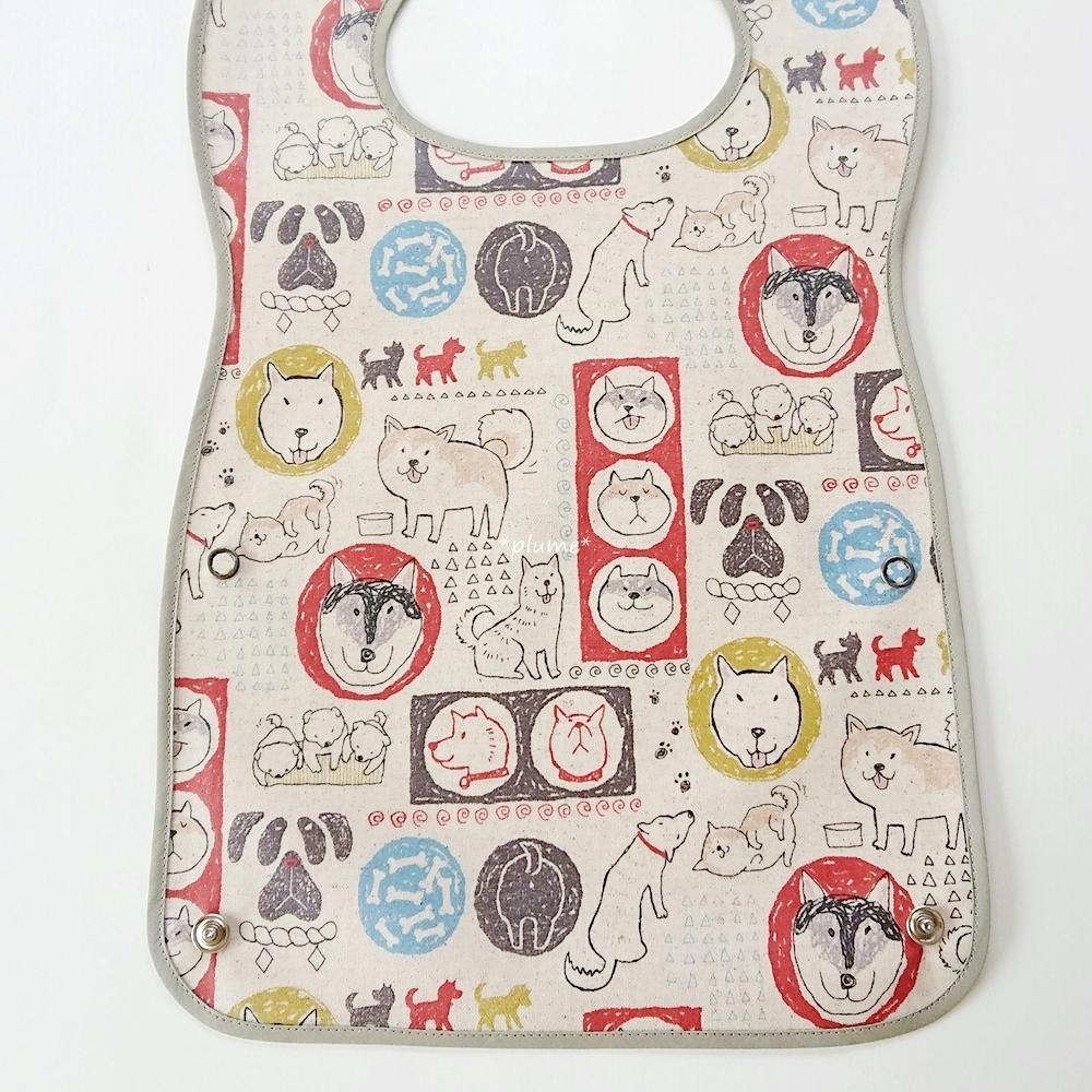 お食事エプロン・離乳食に便利な赤ちゃん用品 柴犬柄