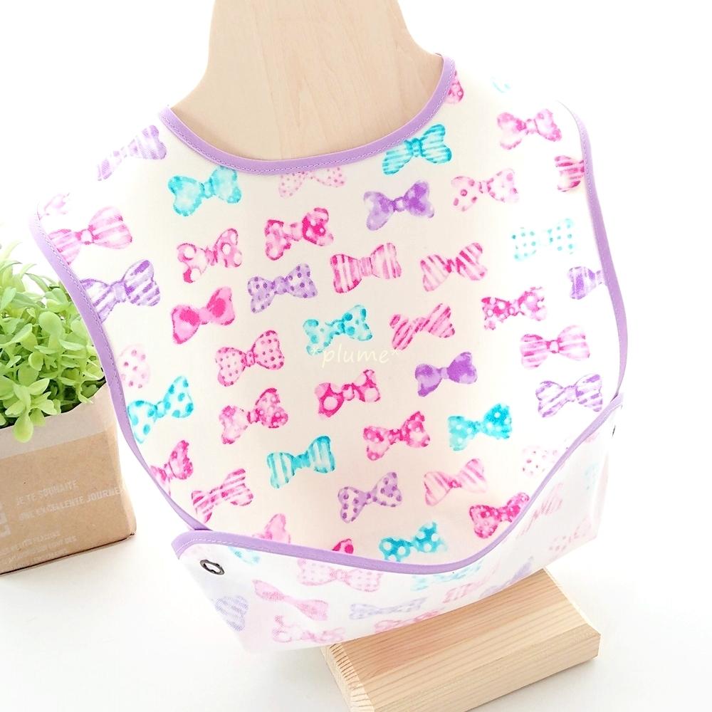 お食事エプロン・離乳食に便利な赤ちゃん用品 パープル系